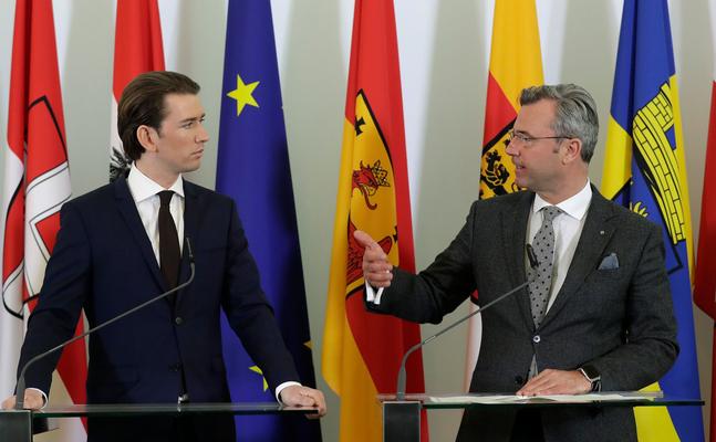 Bundeskanzler Sebastian Kurz und Verkerhsminister Norbert Hofer